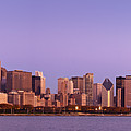 The Chicago Skyline At Sunrise by Justin Foulkes