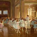 The Children's Dance Recital At The Casino De Dieppe by Victor Gabriel Gilbert