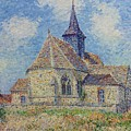 The Church At Porte-joie On The Eure By Gustave Loiseau by Gustave Loiseau