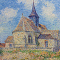 The Church At Porte-joie On The Eure by Gustave Loiseau