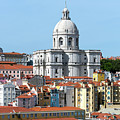 The Church Of Santa Engracia And Rooftops -- Lisbon by Kenneth Lempert