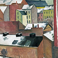 The Church Of St Mary In Bonn In Snow by August Macke