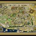 The City Of Quebec Canada by Pd