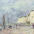 The Cliffs At Dieppe And The Petit Paris by Eugene Louis Boudin
