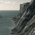 The Cliffs Of Beachy Head And The Lighthouse by Luka Matijevec
