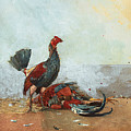 The Cock Fight by Winslow Homer