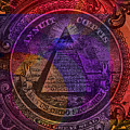 The Color Of Mason Money Close Up 1 Dollar Tad Darker Than #5 Us 3 by Tony Rubino