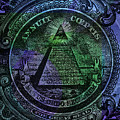 The Color Of Mason Money Close Up 1 Dollar Us 2 by Tony Rubino