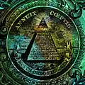 The Color Of Mason Money Close Up 1 Dollar Us 4 by Tony Rubino