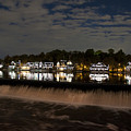 The Colorful Lights Of Boathouse Row by Bill Cannon