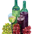 The Colors Of Wine by Arline Wagner
