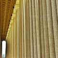 The Columns At The Parthenon In Nashville Tennessee by Lisa Wooten