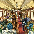 The Comfort Of The Pullman Coach Of A Victorian Passenger Train by Harry Green