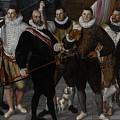 The Company Of Captain Dirck Jacobsz Rosecrans And Lieutenant Pauw, Amsterdam by Cornelis Ketel