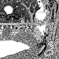 The Complaint Of The Peacock Scene From Aesop's Fables by Percy J Billinghurst
