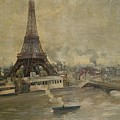 The Construction Of The Eiffel Tower by Paul Louis Delance