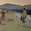 The Conversation by Frederic Remington