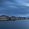 ...the Coolness Of Portsmouth...blue Hour... by James Merecki