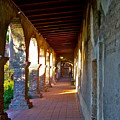 The Corridor By The Serra Chapel San Juan Capistrano Mission California by Karon Melillo DeVega
