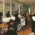 The Cotton Exchange by Edgar Degas