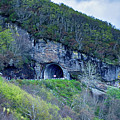 The Craggy Pinnacle Tunnel On The Blue Ridge Parkway In North Ca by Alex Grichenko