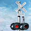 The Crossing - Train Signals by Linda Apple