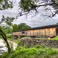 The Crossing Watson Mill Covered Bridge by Reid Callaway