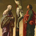 The Crucifixion With The Virgin And Saint John by Hendrick ter Brugghen