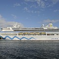 The Cruise Ship Aidavita Arriving In Port Canaveral by Bradford Martin