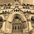 The Customs House Nashville Tennessee Sepia by Lisa Wooten