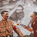The Dalai Lama Shoots Adolph Hitler by Allan OMarra