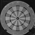 The Dart Board In Black And White by Rob Hans