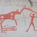The Deer And Female Hunter by Jouko Lehto
