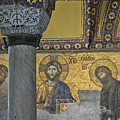 The Deesis Mosaic With Christ As Ruler At Hagia Sophia by Ayhan Altun
