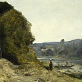 The Departure Of The Boatman by Jean-Baptiste-Camille Corot