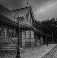 The Depot Walkway Black And White by Dale Kauzlaric