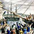 The Destruction Of Tea At Boston by Photo Researchers