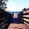 The Dock At Lake George  by Bob Johnson