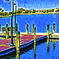 The Dock In Fauvism by Kirt Tisdale