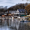 The Docks At Boathouse Row - Philadelphia by Bill Cannon