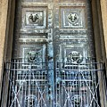 The Door At The Parthenon In Nashville Tennessee by Lisa Wooten