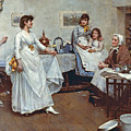 The Dress Rehearsal by Albert Chevallier Tayler