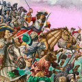 The Duke Of Monmouth At The Battle Of Sedgemoor by Peter Jackson