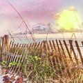 The Dunes In Watercolors by Debra and Dave Vanderlaan