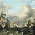 The Dutch Fleet Of The India Company by Ludolf Backhuysen