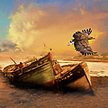 The Eagle And The Boat by Georgiana Romanovna