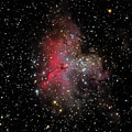 The Eagle Nebula And The Stellar Spire by Brent Newton
