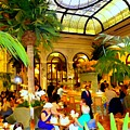 The Easter Holiday Tea At The Palm Court by Ed Weidman