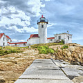 The Eastern Point Lighthouse In Gloucester by John M Bailey