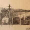 The Edge Of The Village by Raimonda Jatkeviciute-Kasparaviciene